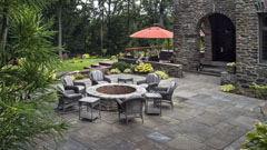 Outdoor fire place and patio in Scarborough, New York