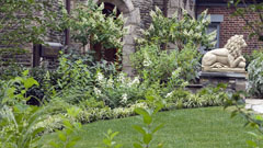 Landscape and garden design for home in Bronxville, New York
